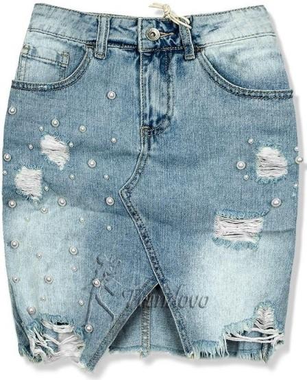 jeansová sukňa